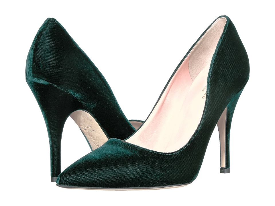 Kate Spade New York - Licorice (Emerald Green Velvet) High Heels