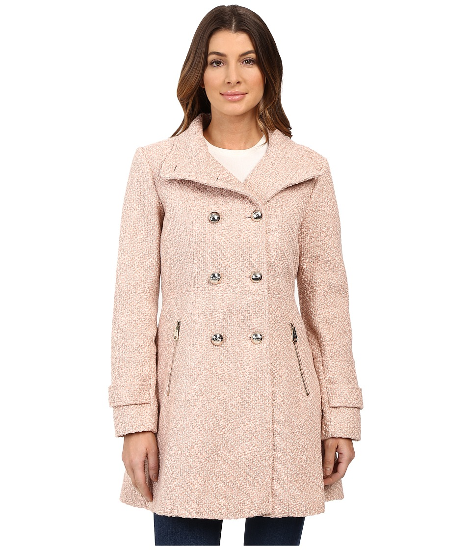 Jessica Simpson - Military Double Breasted Braided Wool (Rose) Women's Coat
