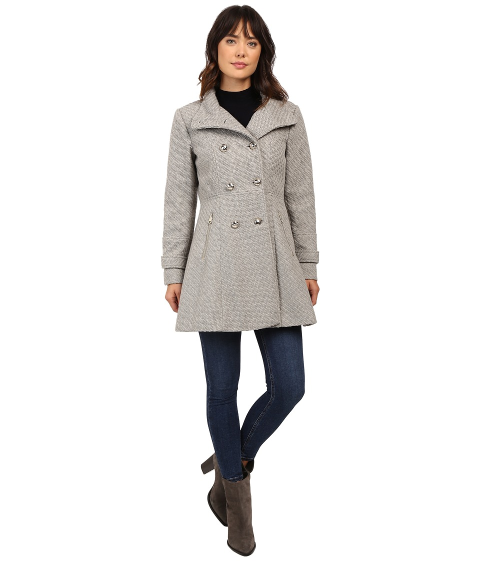 Jessica Simpson - Military Double Breasted Braided Wool (Grey) Women's Coat