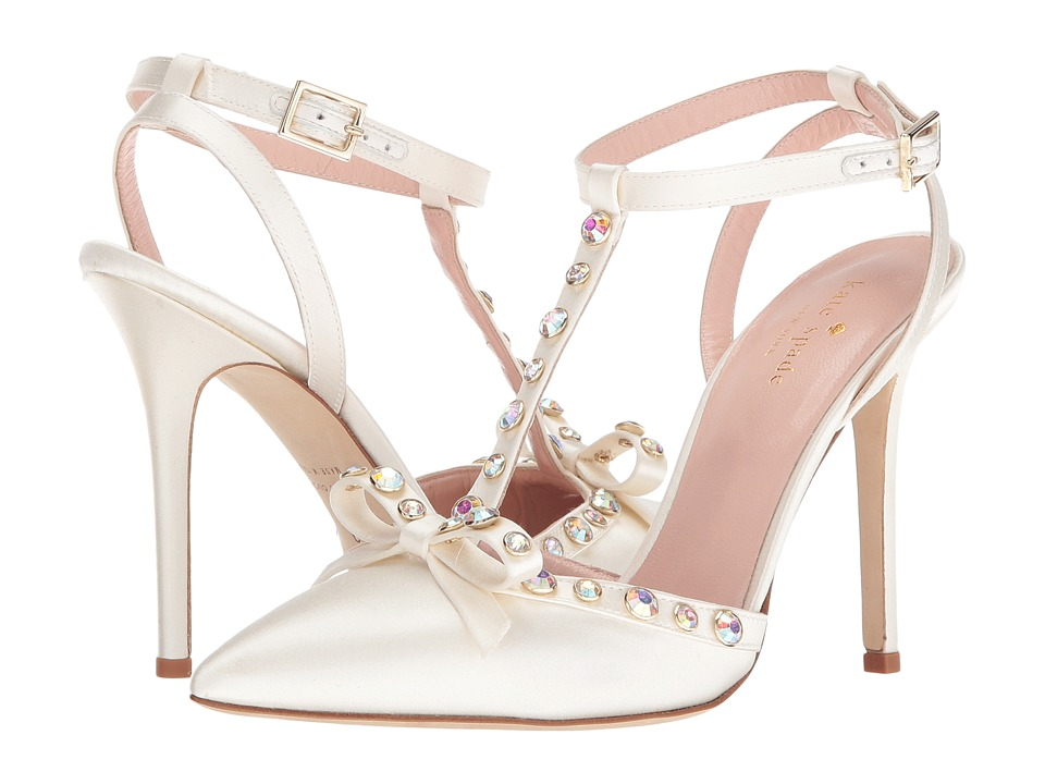 Kate Spade New York - Lydia (Ivory Satin/Aurora Borealis Stones) Women's Shoes