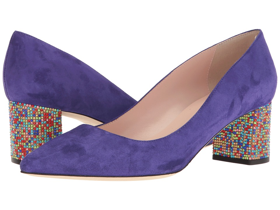 Kate Spade New York - Milan (Ink Blue Kid Suede/Multicolor Stone) Women's Shoes