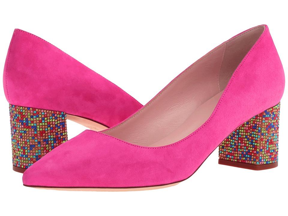 Kate Spade New York Milan (Pink Swirl Kid Suede/Multicolor Stone) Women