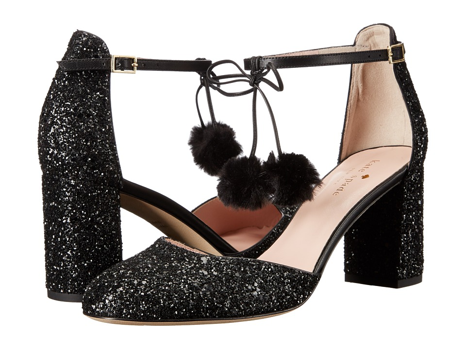 Kate Spade New York - Abigail (Black Glitter/Nappa) Women's Shoes