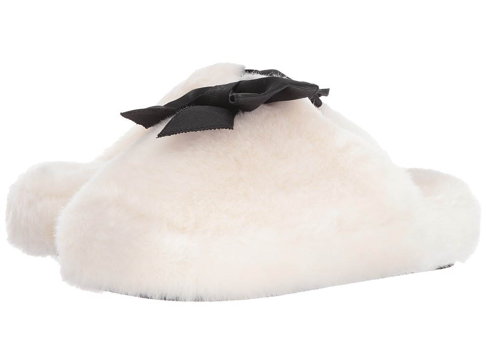 Kate Spade New York Bali Cream Faux Fur Womens Shoes