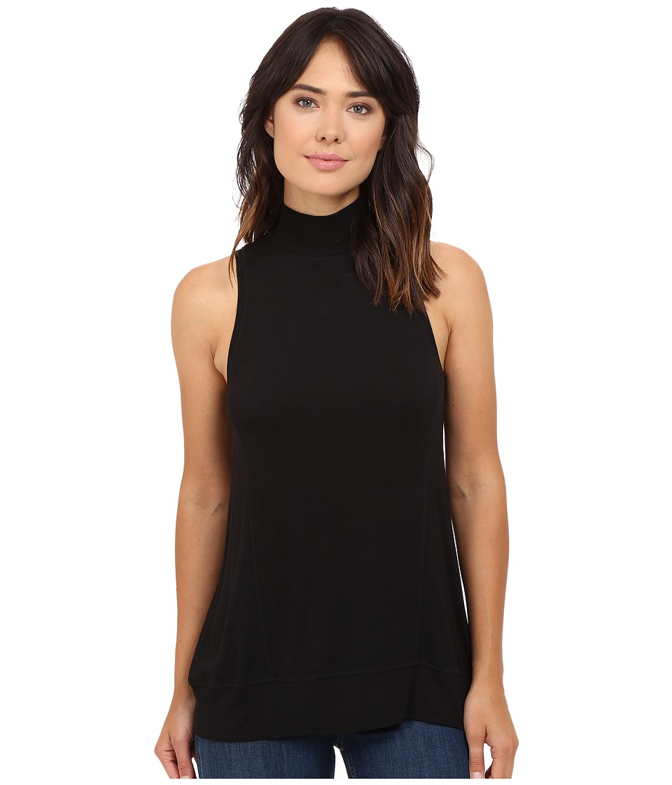 HEATHER - Sleeveless Wrap Back Panel Tank Top (Black) Women's Sleeveless
