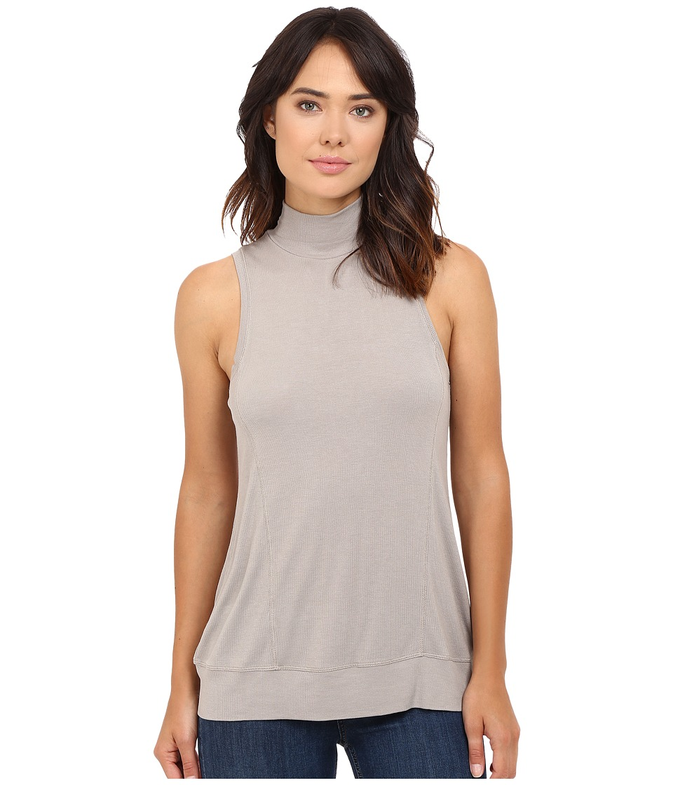 HEATHER - Sleeveless Wrap Back Panel Tank Top (Birch) Women's Sleeveless