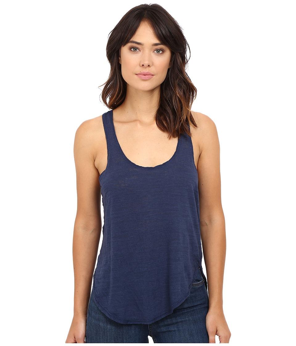 HEATHER - Cotton Gauze Panel Tank Top (Oxford) Women's Sleeveless