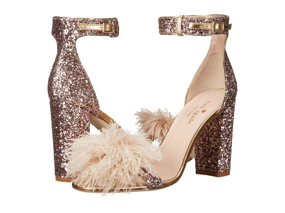 Kate Spade New York - Ilona (Rose Gold Multi Glitter/Gold Metallic Nappa) Women's Shoes