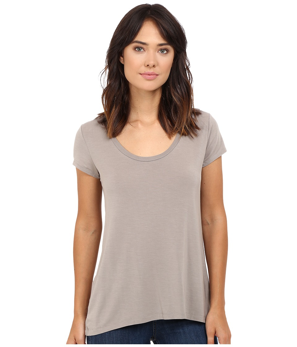 HEATHER - Scoop Neck Tee (Birch) Women's Short Sleeve Pullover