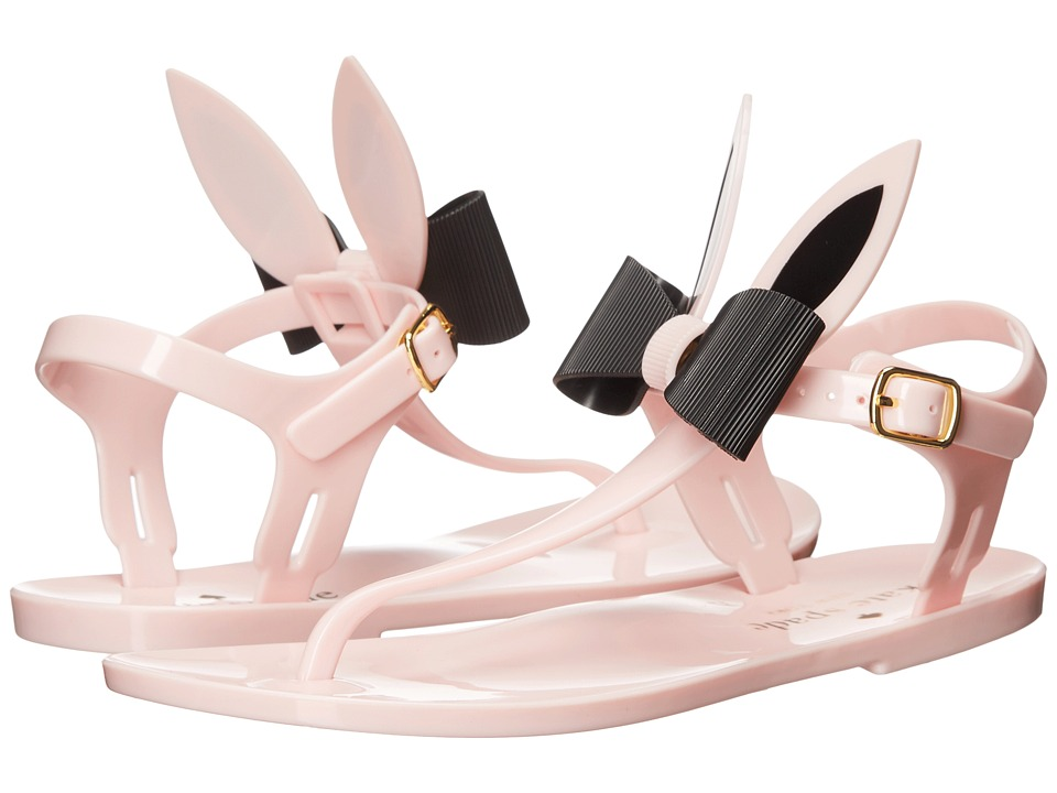 Kate Spade New York - Freda (Light Pink Shiny Rubber/Black Rubber) Women's Sandals