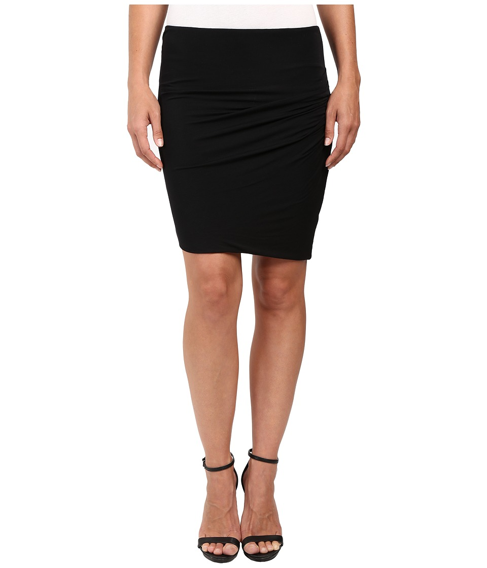 HEATHER - Asymmetrical Twist Skirt (Black) Women's Skirt