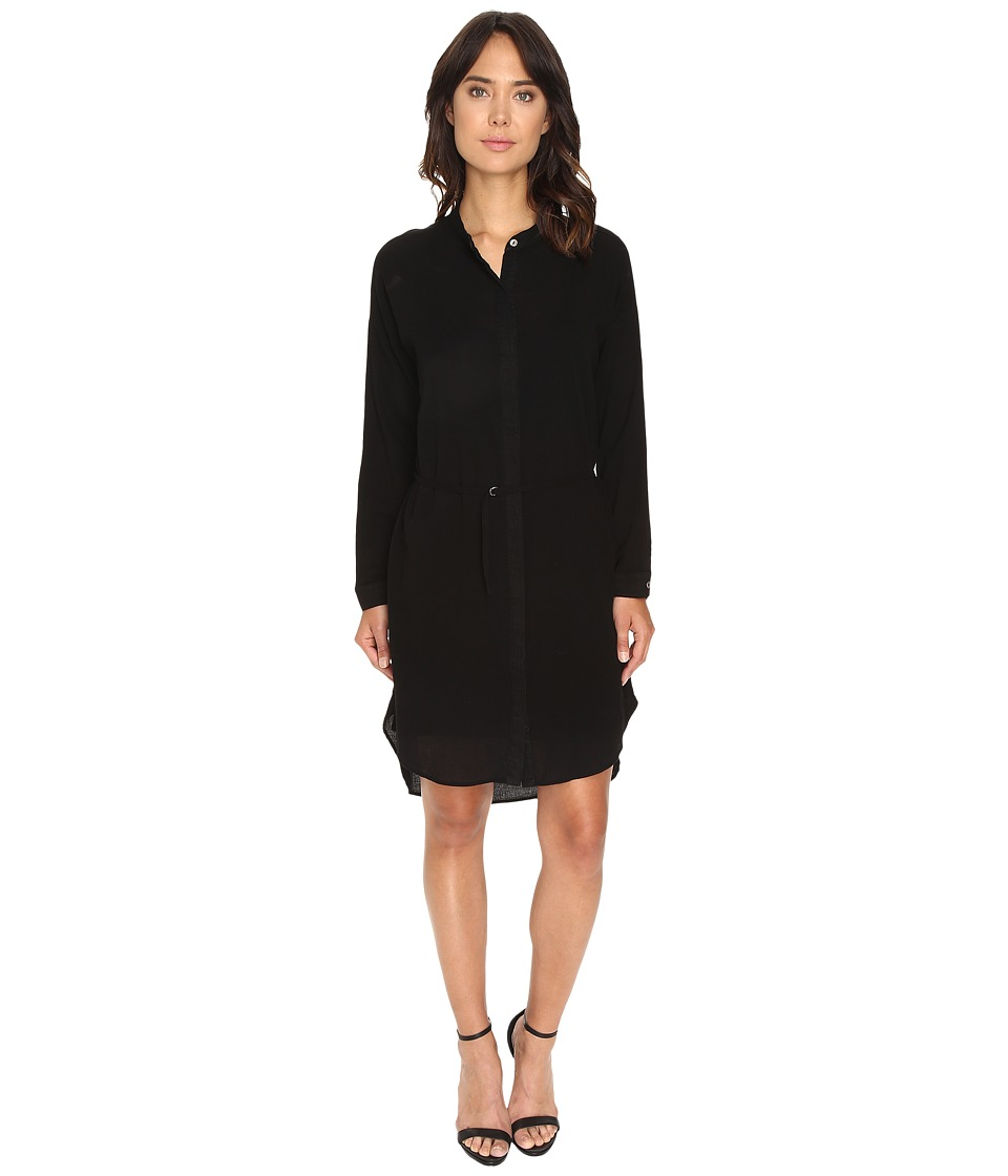 HEATHER - Gauze Shirtdress (Black) Women's Dress