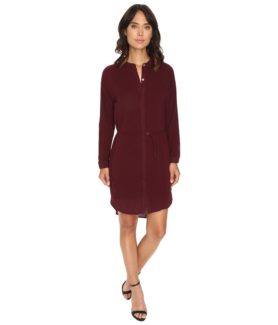 HEATHER - Gauze Shirtdress (Pinot) Women's Dress