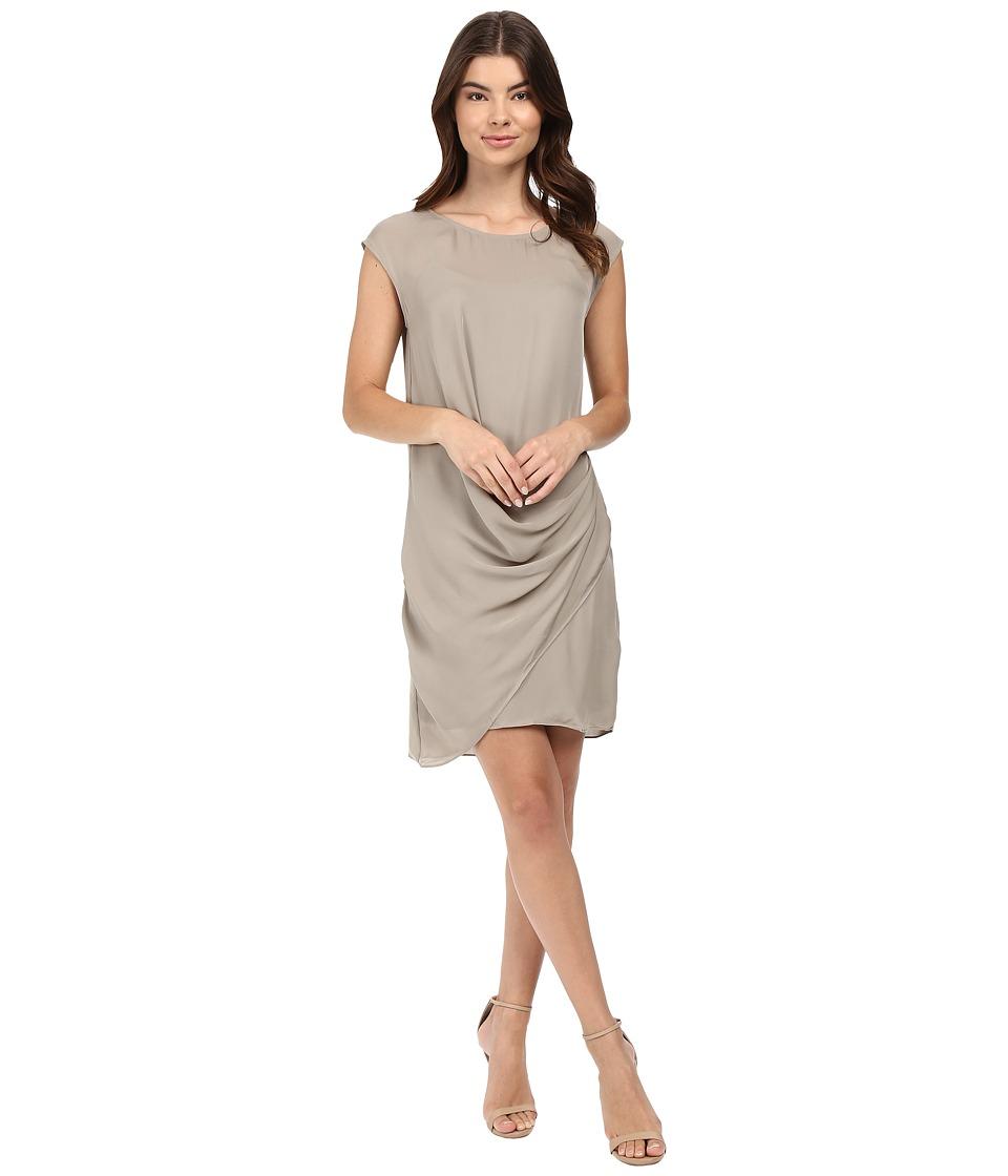 HEATHER - Silk Layered Asymmetrical Dress (Birch) Women's Dress