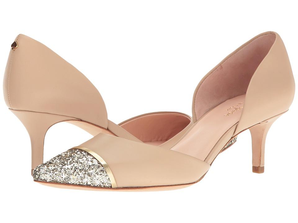 Kate Spade New York - Pam (Powder Nappa/Gold Glitter/Specchio) Women's Shoes