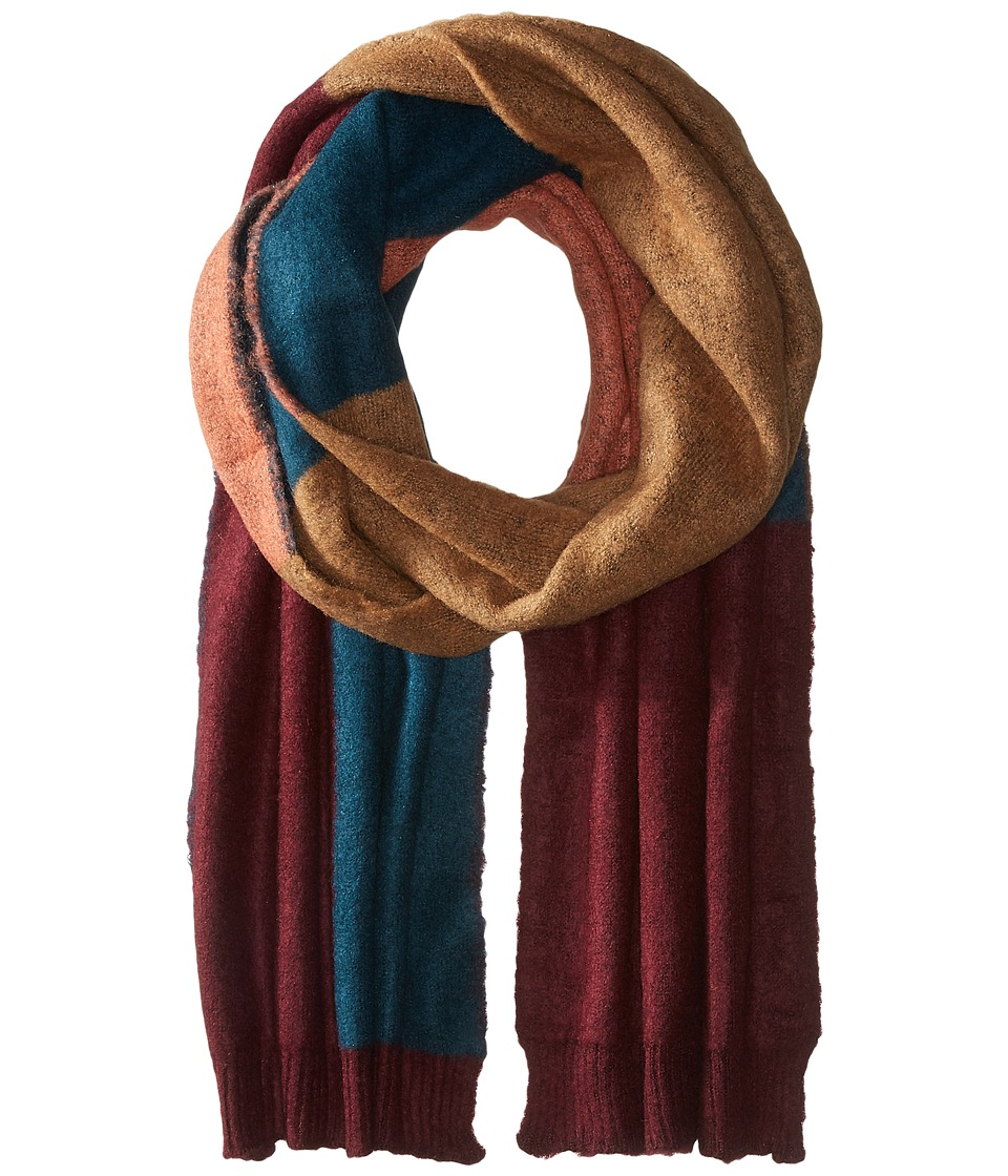BCBGMAXAZRIA - Brushed Color Block Scarf (Port) Scarves