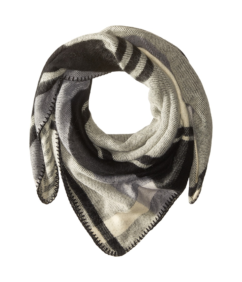 BCBGMAXAZRIA - Reversible Plaid Wrap (Black) Scarves