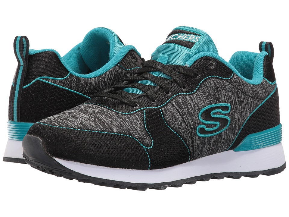 SKECHERS - OG 85 - Quick Stitch (Black/Teal) Women's Shoes