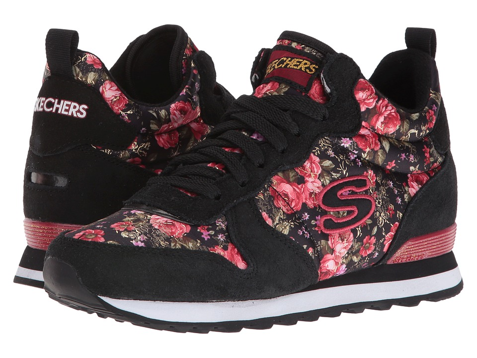 BOBS from SKECHERS - Retros-OG 1985 (Black/Red) Women's Shoes