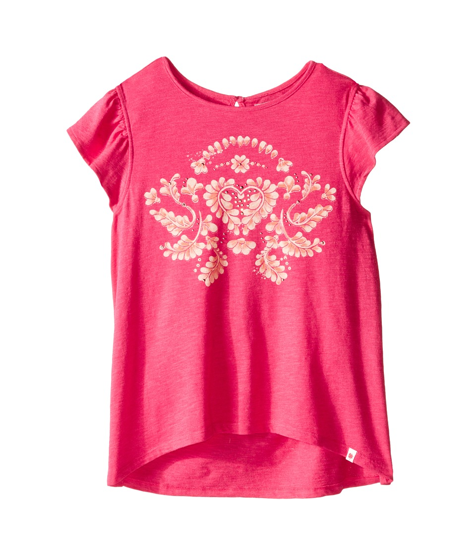 Lucky Brand Kids - Vine Tee (Big Kids) (Rasberry) Girl's T Shirt