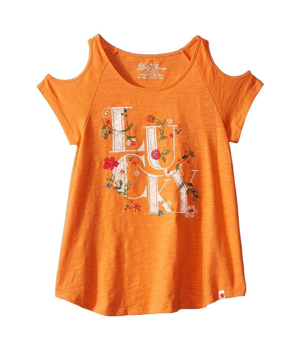 Lucky Brand Kids - Anna Lucky Tee (Big Kids) (Melon) Girl's T Shirt