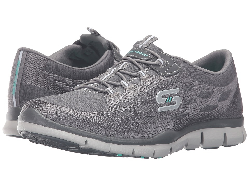SKECHERS - Gratis - Blissfully (Gray) Women's Shoes