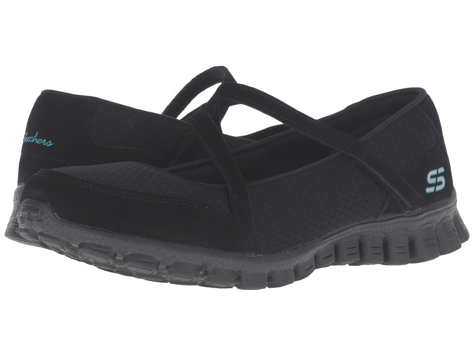 SKECHERS - EZ Flex 2 - A-Game (Black) Women's Slip on Shoes