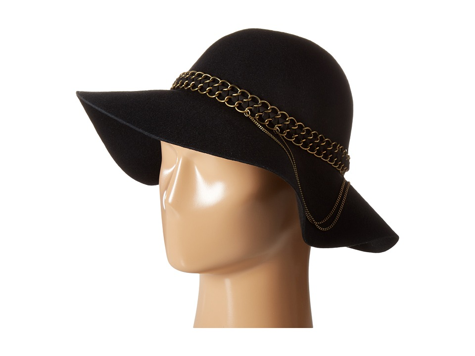 Michael Stars - Mixed Metal Floppy Hat (Black) Caps