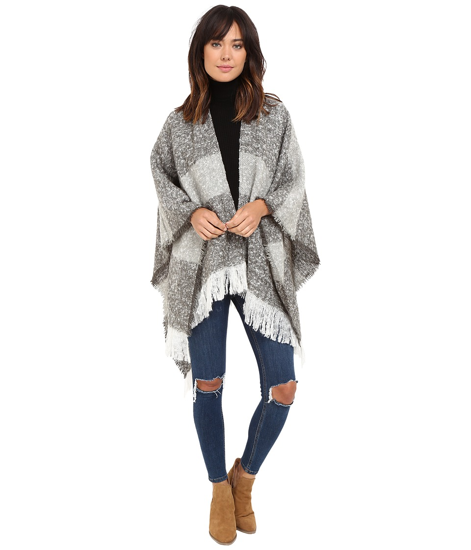 Michael Stars - Boucle Striped Cape (Galvanized) Women's Clothing