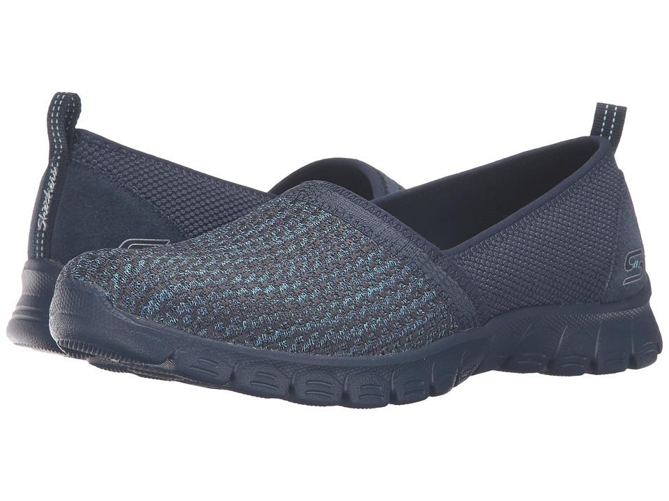 SKECHERS - EZ Flex 3.0 - Big Money (Navy) Women's Slip on Shoes