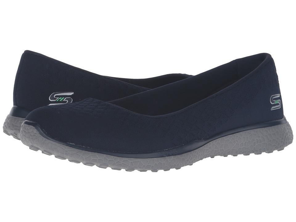 SKECHERS - Microburst - One-Up (Navy) Women's Slip on Shoes