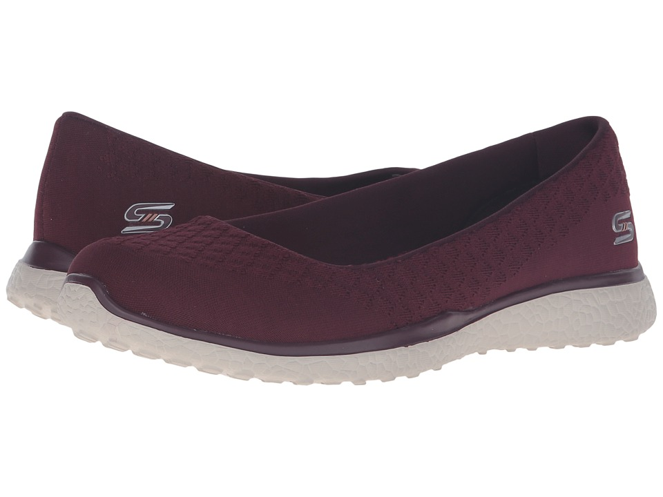 SKECHERS - Microburst - One-Up (Burgundy) Women's Slip on Shoes