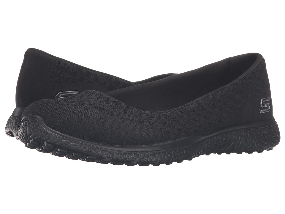 SKECHERS - Microburst - One-Up (Black) Women's Slip on Shoes