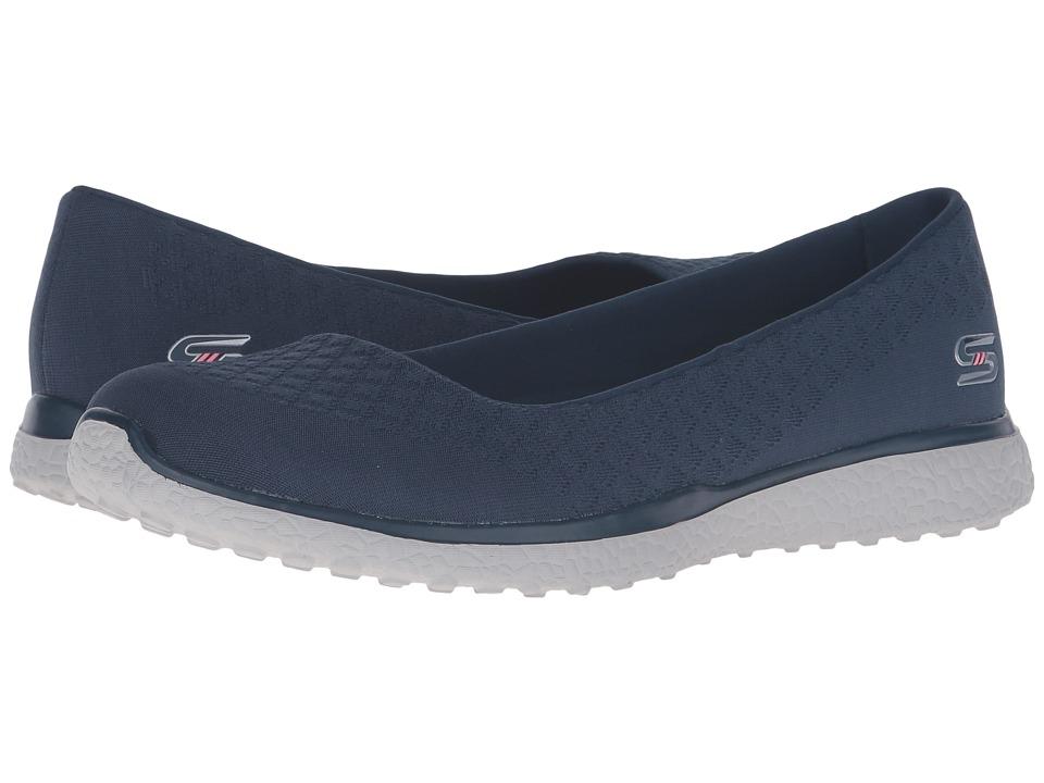 SKECHERS - Microburst - One-Up (Slate) Women's Slip on Shoes