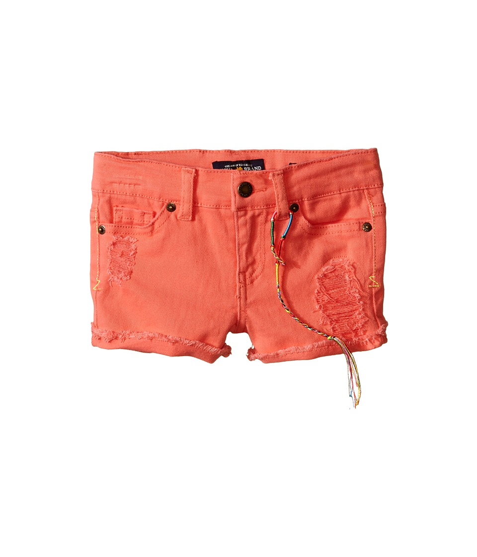 Lucky Brand Kids - High Roller Riely Denim Shorts (Toddler) (Neon Sunset) Girl's Shorts