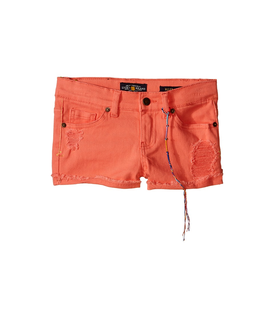 Lucky Brand Kids - High Roller Riely Denim Shorts (Little Kids) (Neon Sunset) Girl's Shorts