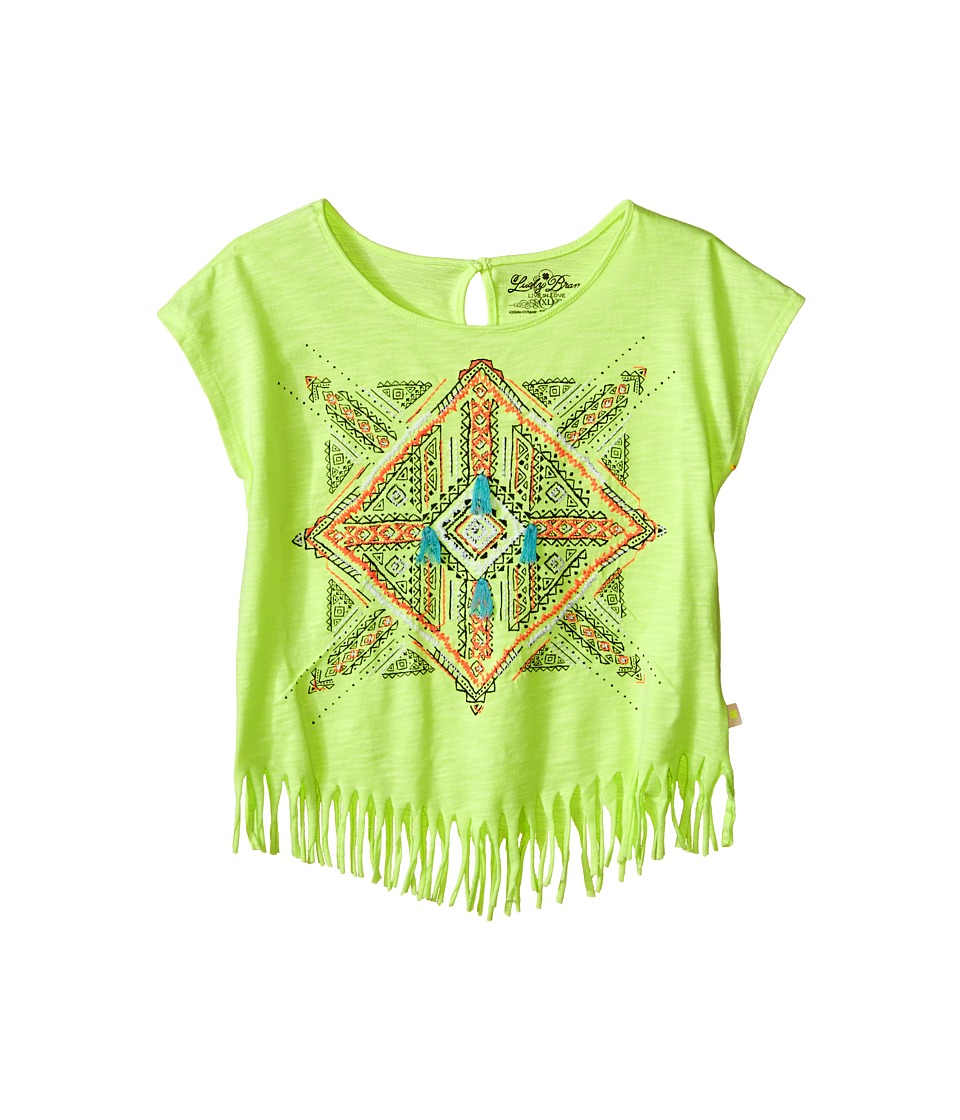 Lucky Brand Kids - Aztec Mandala Fringe Tee (Big Kids) (Star Fruit) Girl's T Shirt