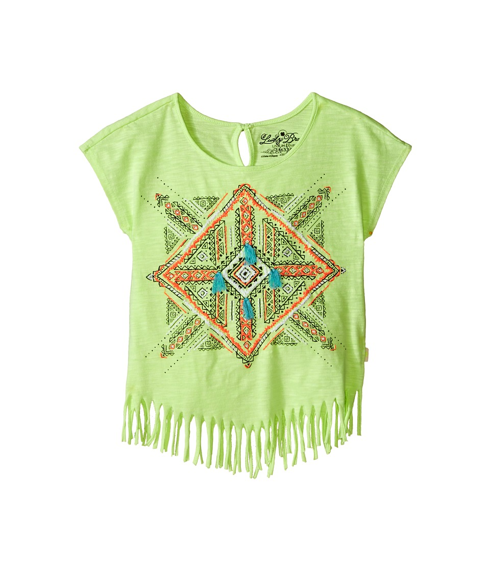 Lucky Brand Kids - Aztec Mandala Fringe Tee (Little Kids) (Star Fruit) Girl's T Shirt