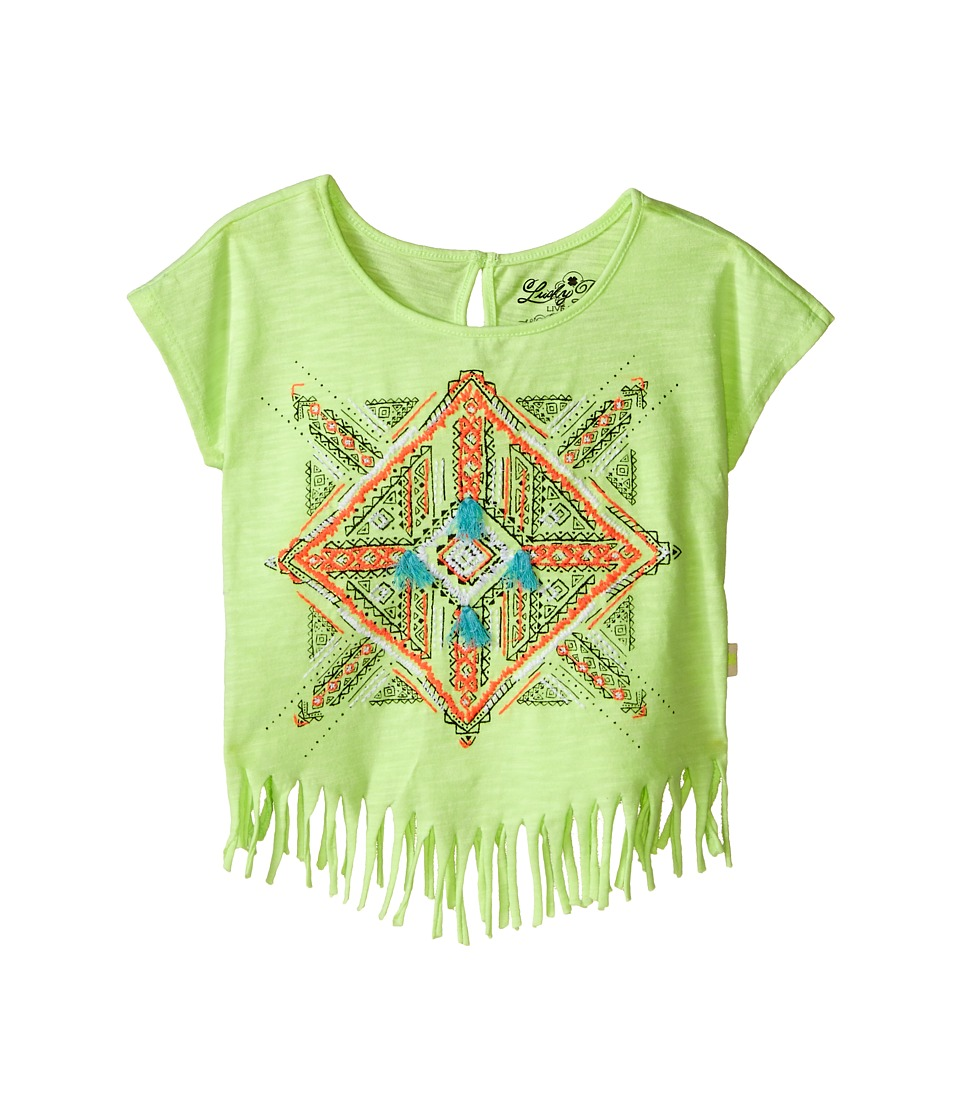 Lucky Brand Kids - Aztec Mandala Fringe Tee (Toddler) (Star Fruit) Girl's T Shirt