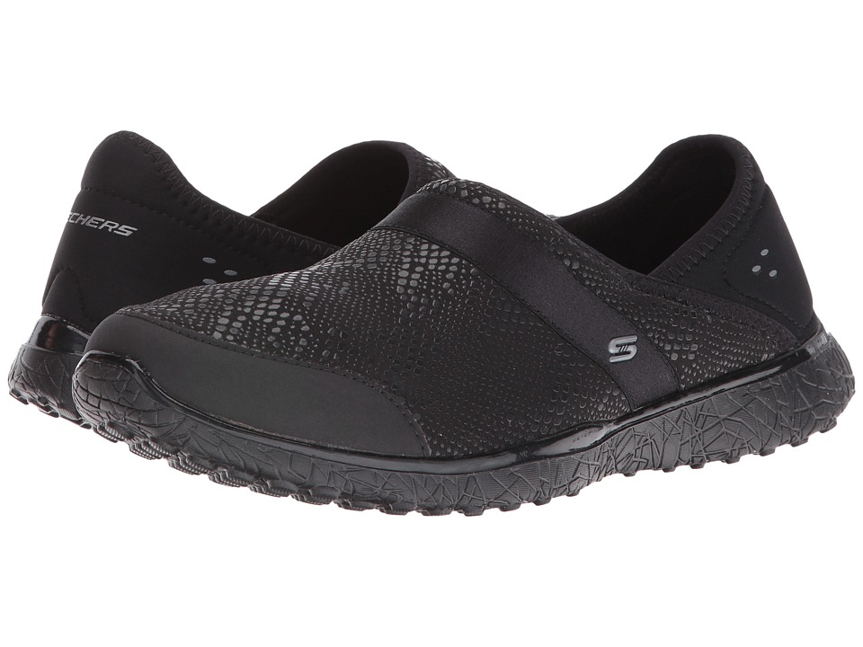 SKECHERS - Microburst - Lakshmi (Black) Women's Slip on Shoes