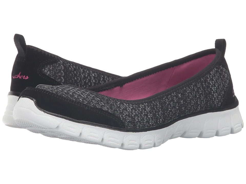 SKECHERS - EZ Flex 3.0 - Serene Scene (Black/White) Women's Slip on Shoes