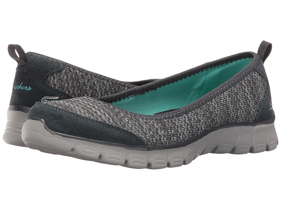 SKECHERS - EZ Flex 3.0 - Serene Scene (Charcoal) Women's Slip on Shoes