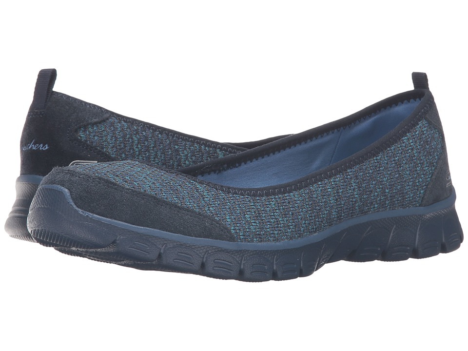 SKECHERS - EZ Flex 3.0 - Serene Scene (Navy) Women's Slip on Shoes
