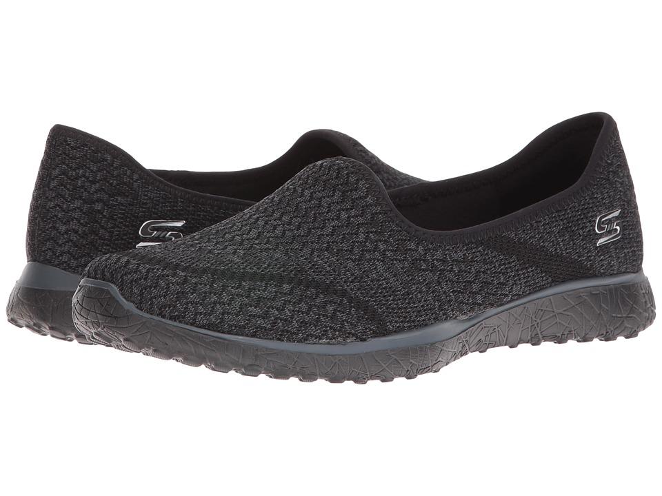 SKECHERS - Microburst - All-Mine (Black) Women's Slip on Shoes