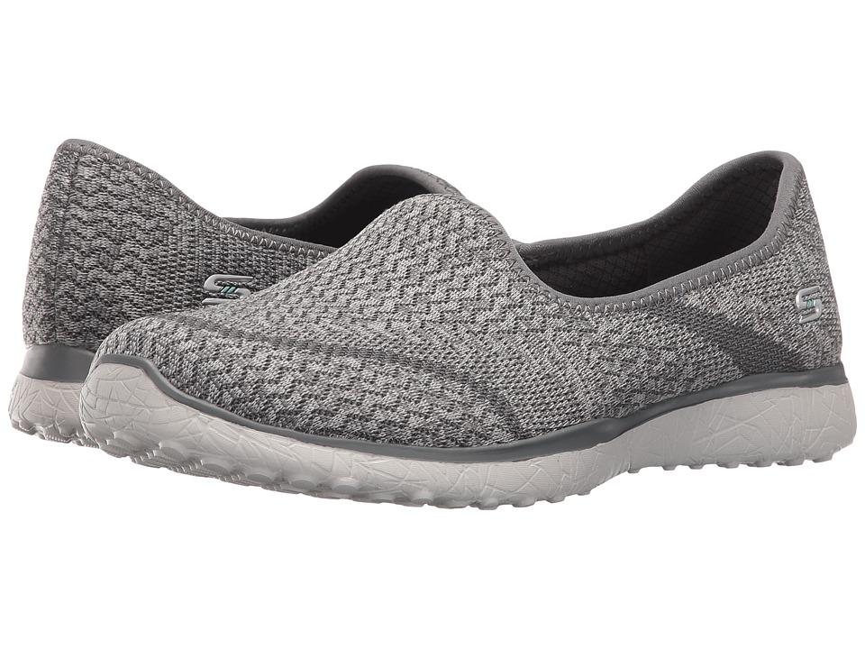 SKECHERS - Microburst - All-Mine (Gray) Women's Slip on Shoes