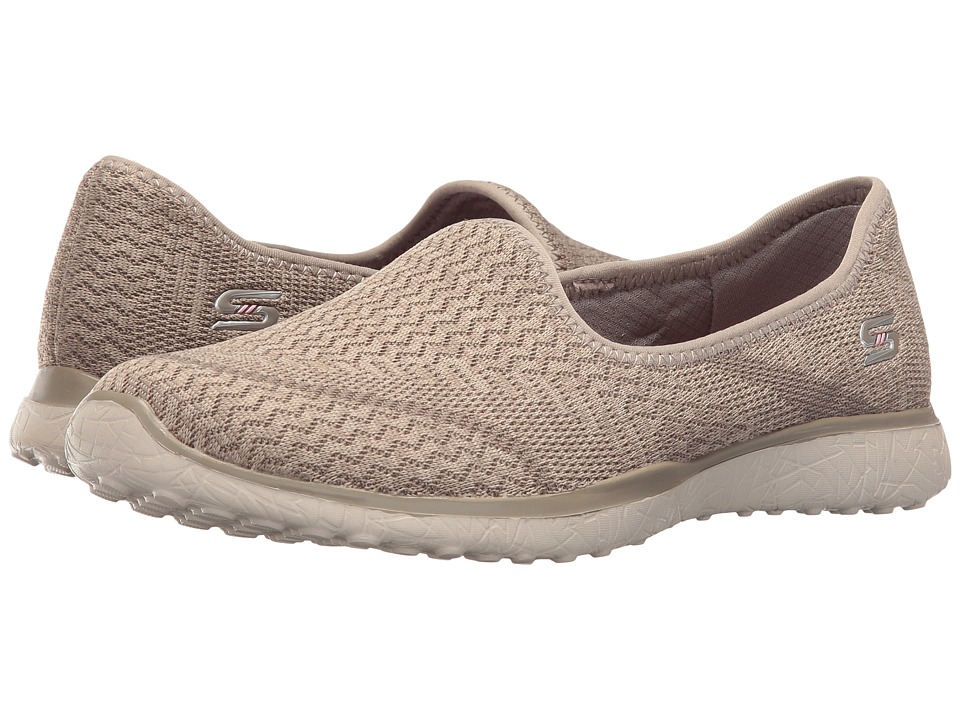 SKECHERS - Microburst - All-Mine (Taupe) Women's Slip on Shoes