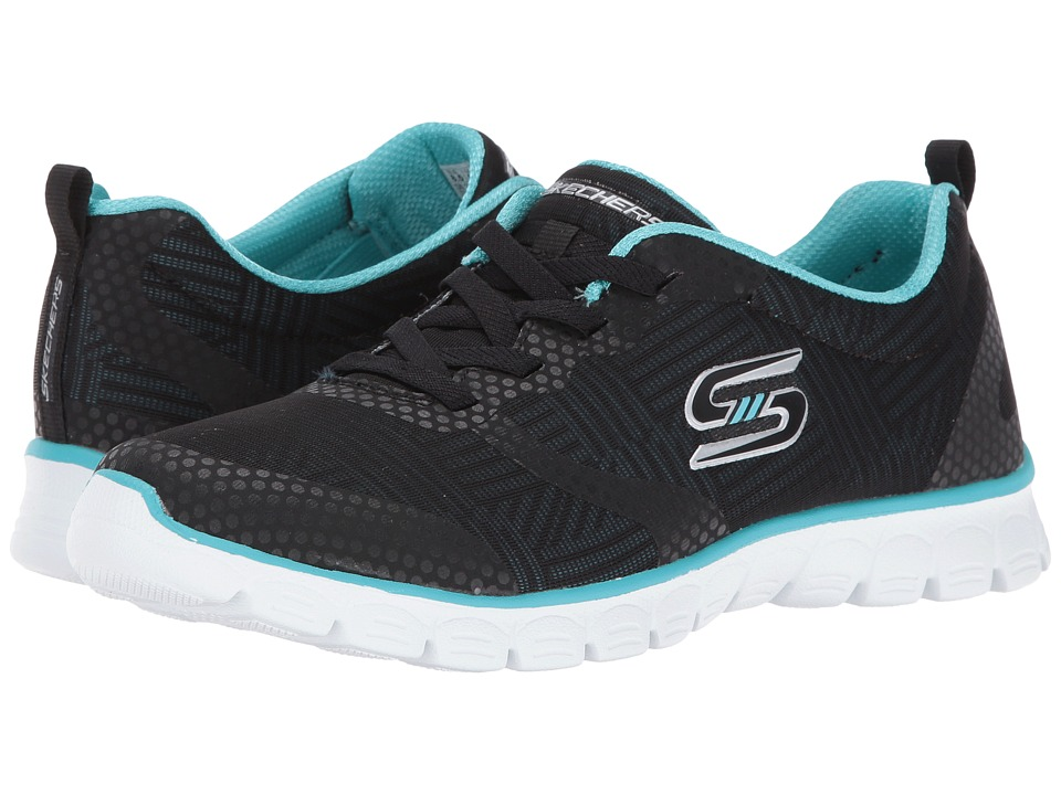 SKECHERS - EZ Flex 3.0 - Ready-To-Roll (Black/Aqua) Women's Shoes