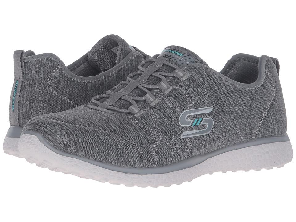 SKECHERS - Microburst - On-The-Edge (Gray) Women's Shoes