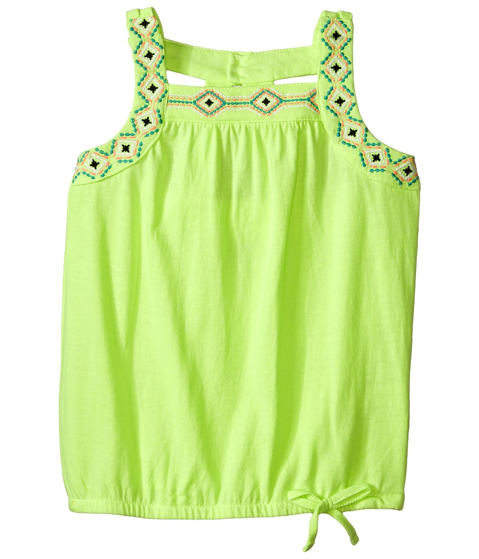 Lucky Brand Kids - Cut Out Tank Top (Little Kids) (Star Fruit) Girl's Sleeveless