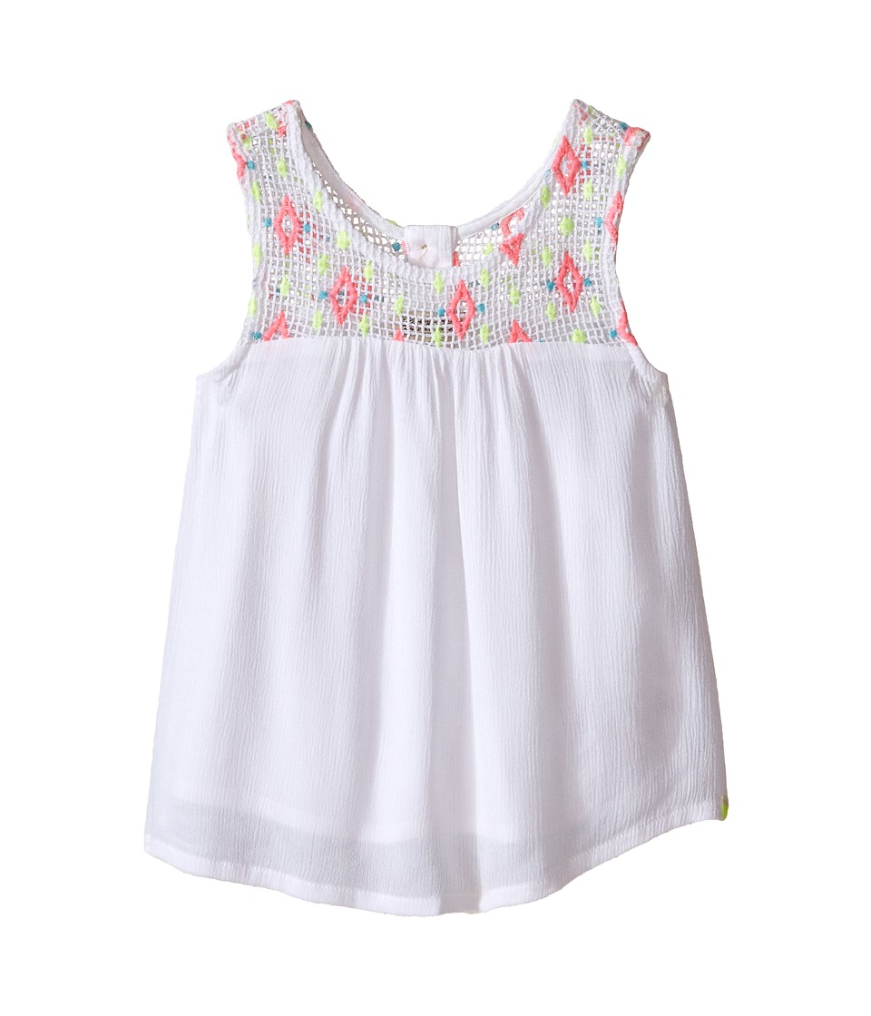Lucky Brand Kids - Rio Grand Tank Top (Little Kids) (Bright White) Girl's Sleeveless
